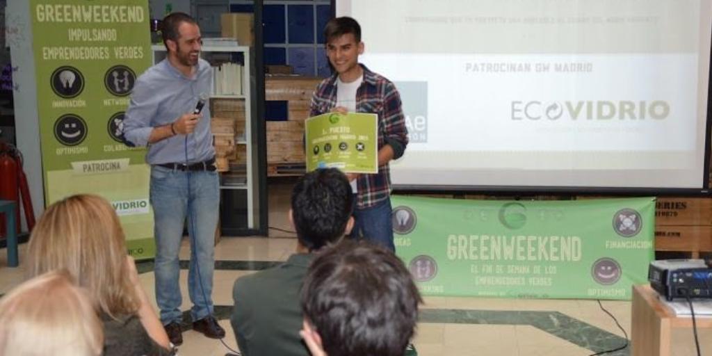 Imagen de la entrega del premio GreenWeekend Madrid 2015