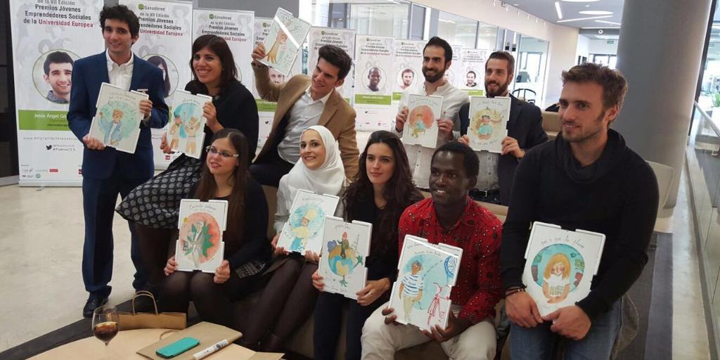 Imagen del grupo de ganadores de los Premios JES Universidad Europea
