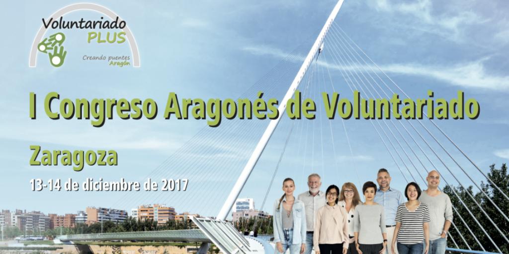 Cartel I Congreso Aragonés de Voluntariado en Zaragoza