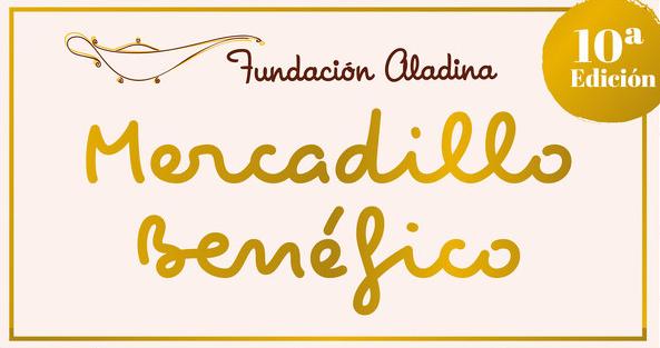 imagen destacada del cartel del 10º Mercadillo benéfico de Navidad de la Fundación Aladina