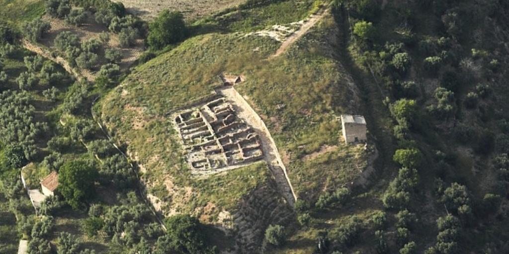 Imagen destacada del Poblado Íbero del Palomar en Oliete (Teruel)