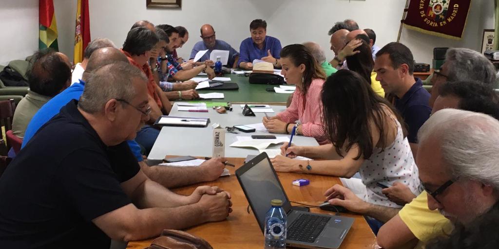"""Imagen reunión de la constitución de la Coordinadora de la """"España Vaciada"""""""