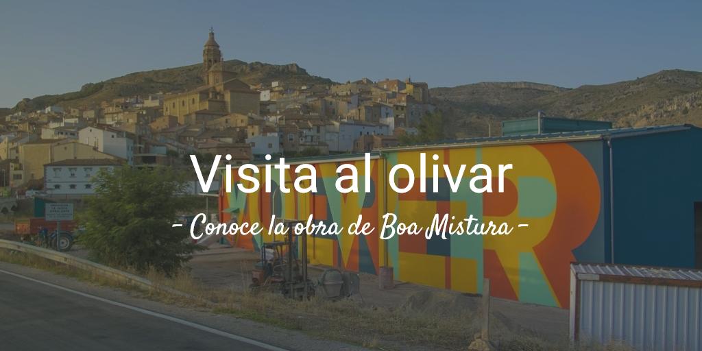 imagen evento 5ª visita al olivar 2019. Conoce la obra de Boa Mistura